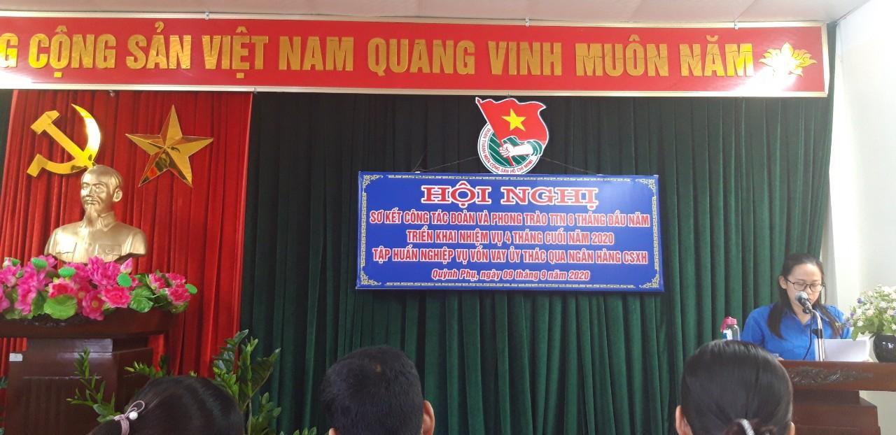 Quỳnh Phụ: Sơ kết công tác đoàn và phong trào TTN 8 tháng đầu năm 2020