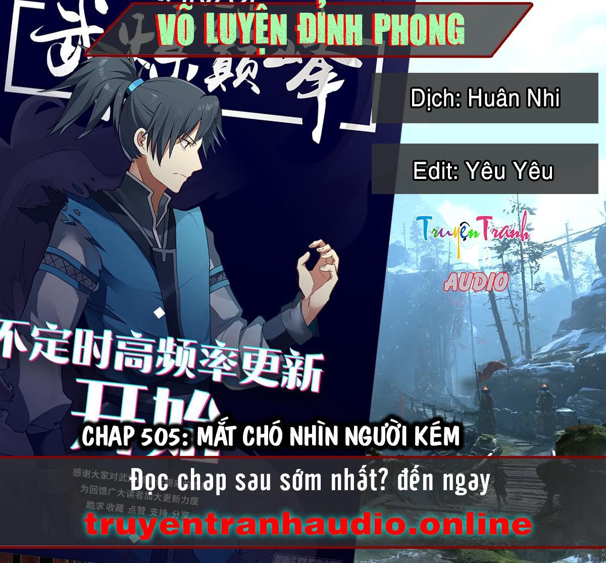 Võ Luyện Đỉnh Phong chap 505 - Trang 1